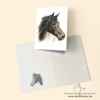 Klappkarte Postkarte Kunstdruck Pferd Malerin Gabriele Laubinger
